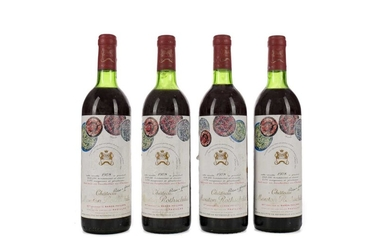 FOUR BOTTLES OF CHATEAU MOUTON ROTHSCHILD 1978