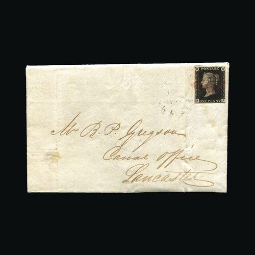 Great Britain - Covers - QV : (SG 2) 1840 1d black, plate 5,...