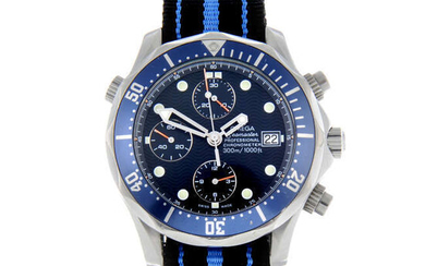 OMEGA - a gentleman's stainless steel Seamaster professional 300M chronograph wrist watch.