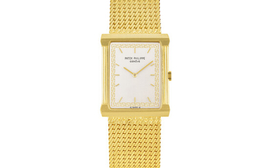 PATEK PHILIPPE, GOLD RECTANGULAR BRACELET WATCH, REF.3775/1