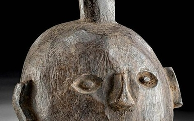 Petite Early 20th C. Nepalese Wood Mask
