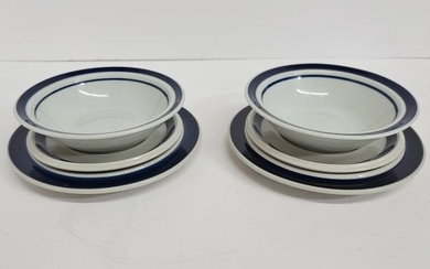 Place Setting For 2 Bowl And Saucer Arabia Of Finland