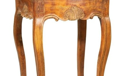 Provincial Louis XV Fruitwood Side Table