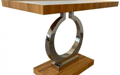 Side Table with Mirror Insert Top by Century