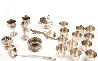 Silver plated punch bowl and other silver plated wares
