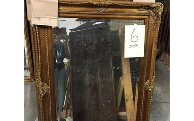 Victorian Style Carved Gilt Wood Beveled Mirror