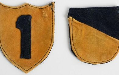 WWII US ARMY CHEMICAL SERVICE PATCH LOT OF 2 WW1