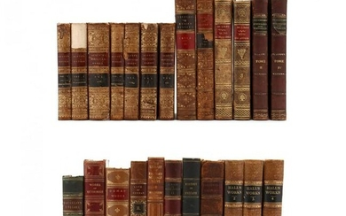 24 Assorted Antique Leatherbound Books