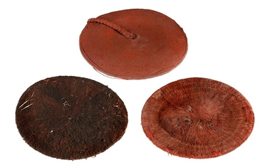 3 Papua New Guinea Human Hair Wigs. PROVENANCE: Estate of Ray Hughes.