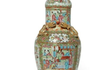 A Chinese Export Famille Rose Medallion vase