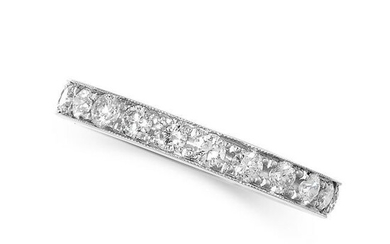 A DIAMOND FULL ETERNITY RING set with a single row of
