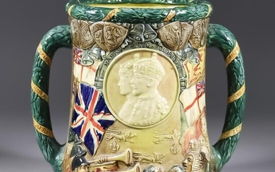 A Royal Doulton Limited Edition Loving Cup with Double...