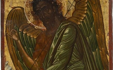 A SMALL ICON SHOWING ST. JOHN THE FORERUNNER AS ANGEL