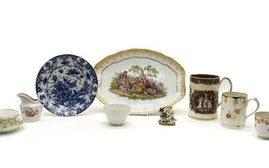 A collection of English and Continental porcelain