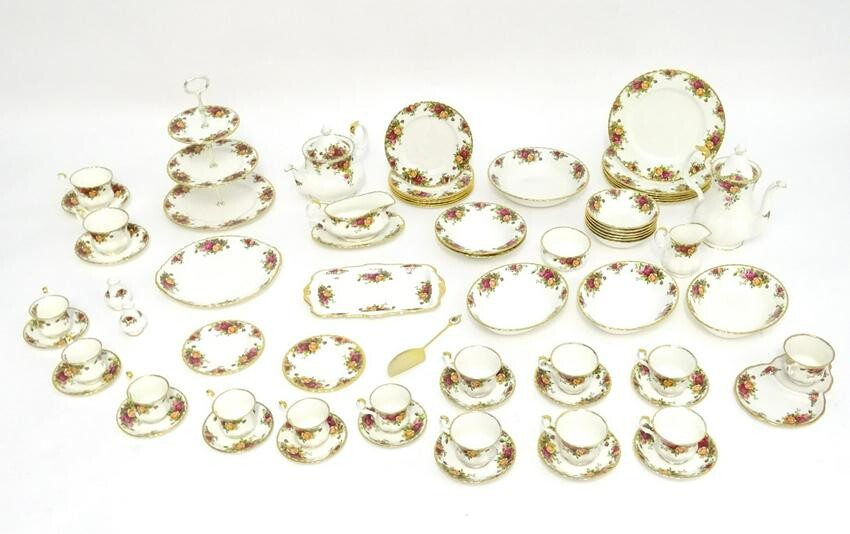 A large quantity of Royal Albert tea and dinner wares