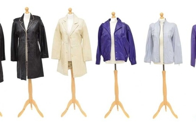 A large selection of leather jackets