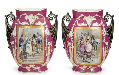 A pair of Empire Porcelain Company figural vases
