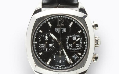 A stainless steel wristwatch, Monza Re-Edition, Tag