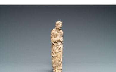 An ivory figure of a Madonna, 2nd half 16th C.Lot subject to...
