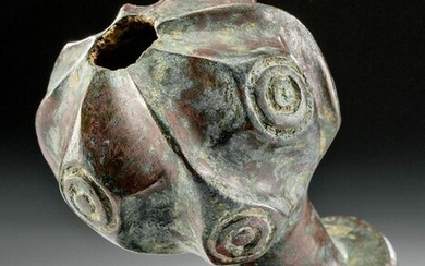 Ancient Central Asian Bronze Mace Head