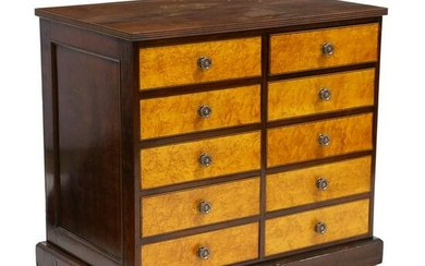 Antique English Collector's Cabinet
