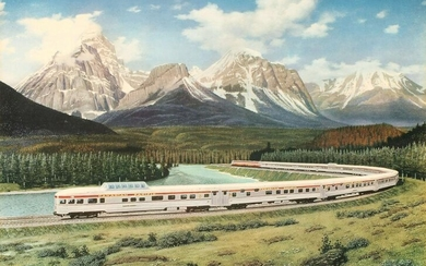 CANADIAN PACIFIC RR FRAMED ADVERTISING POSTERS
