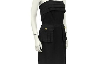 Chanel Black Cargo Gown