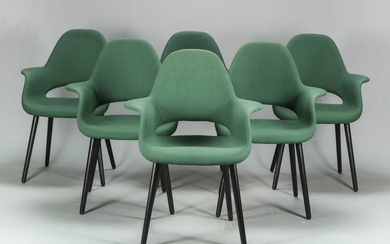 Charles Eames and Eero Saarinen. Six lounge chairs, Model 'Organic' (6)