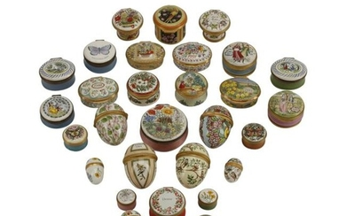 Collection of Enameled Boxes.