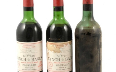 Eight assorted bottles and a half bottle of vintage French wines, low levels and seepage