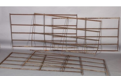 Four cast iron five-bar estate railings and one with four ba...