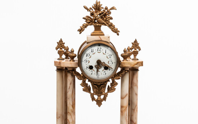 French Gilt and Marble Mantel Clock