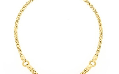 Gold and Cultured Pearl Fruit Fringe Necklace