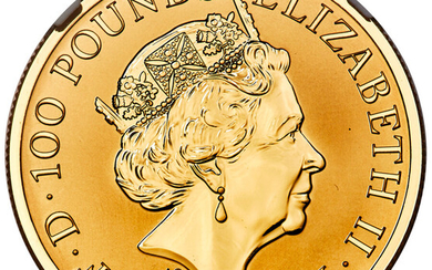 """Great Britain: , Elizabeth II gold Proof """"Mayflower 400th Anniversary"""" 100 Pounds (1 oz) 2020 PR70 Ultra Cameo NGC,..."""