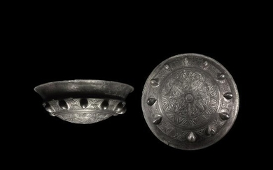 Greek Silver Palm Cup with Floral Designs