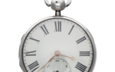 Late 18th century English silver rack lever pocket watch, Ch...