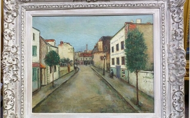 Manner of Maurice Utrillo – French Street Scene