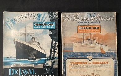 OCEAN LINER: Souvenir numbers of The Shipbuilder for the Mau...