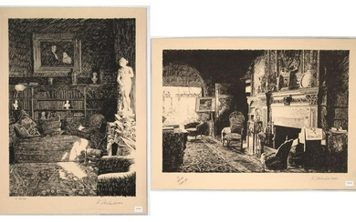 Roland DesCombes, Two Lithographs
