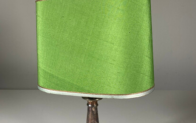 Silver-plated table lamp.
