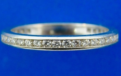 Tiffany & Co. Platinum and Diamond Eternity Band Ring