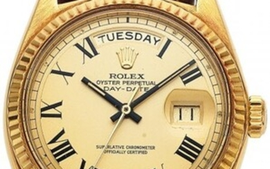 54168: Rolex, Ref. 1803 Gold Oyster Perpetual Day-Date