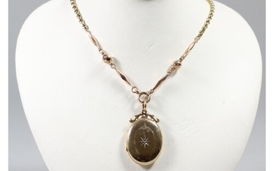 A 9ct rose gold chain, 3.5 gms, together with a 9ct gold fro...