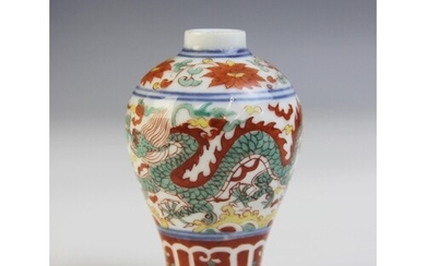 A Chinese porcelain vase, Qianlong mark, of miniature meipin...