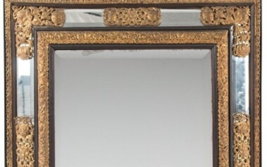 A French Ebonized Wood Frame with Gilt Metal Rep