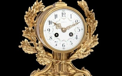 A French Gilt Bronze and Marble Clock, Charles Hour