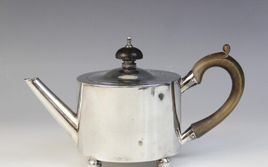 A George III silver bachelor's teapot by William Troby, Lond...