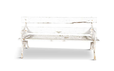 A PAIR OF VICTORIAN CAST IRON WHITE PAINTED...
