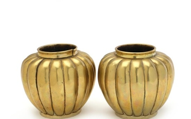 NOT SOLD. A pair of Chinese 19th c. bronze vases, Xuande mark on the reverse. Weight 1706 g. H. 10.5 cm. (2) – Bruun Rasmussen Auctioneers of Fine Art