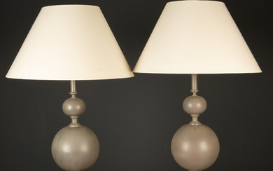A pair of Parex model JB415 grey painted metal table...